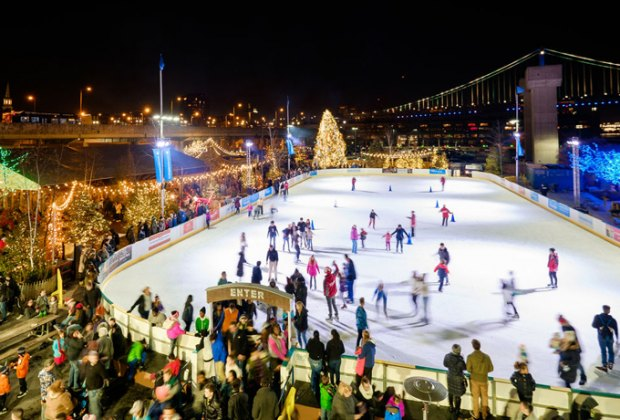 Hit the ice at the Blue Cross RiverRink. Photo courtesy of the Delaware River Waterfront Corporation