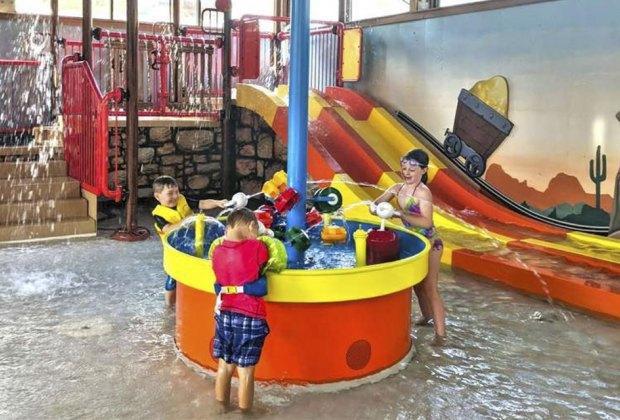 Rocking Horse Ranch's Big Splash indoor water park.