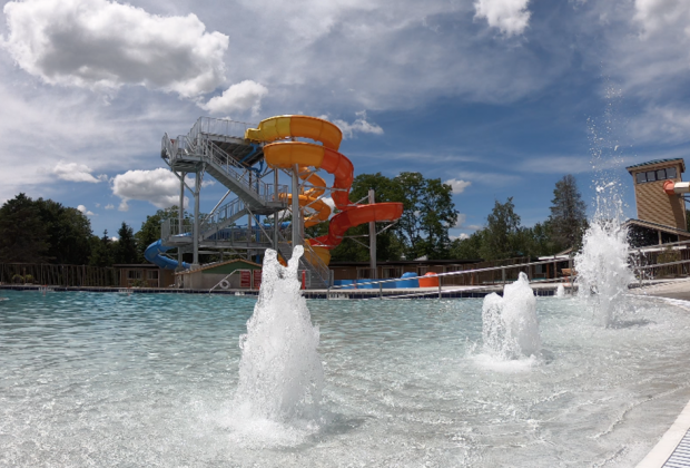 the water slide at rocking horse ranch