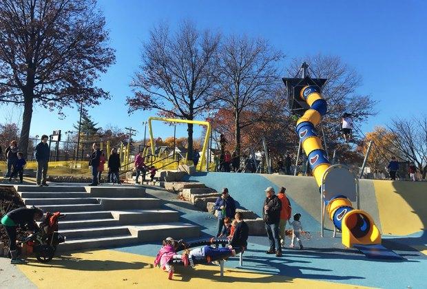Boston Playgrounds with Brain-Boosting Fun: Fallon Field
