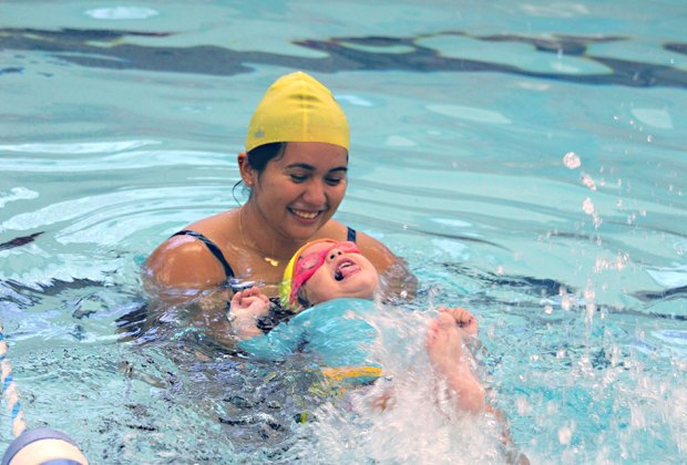 Make it a family swim day at  the Rye YMCA. Photo courtesy of the YMCA