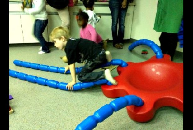 Spider units offer a multitude of gross and fine motor activities