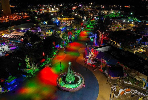 Sesame Place Holiday Lights Drive Thrus
