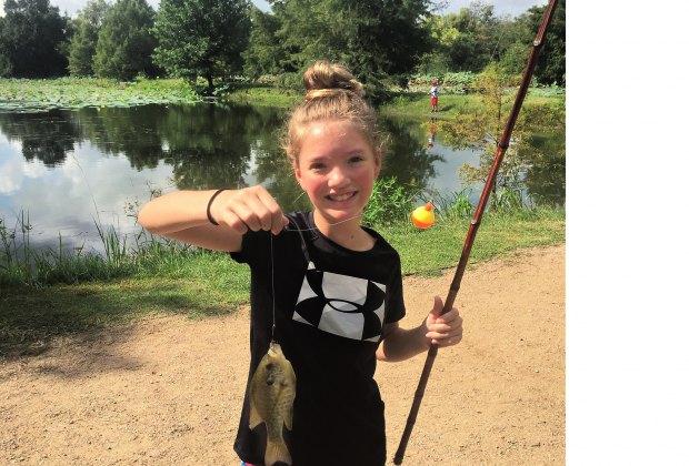 fishing Sheldon Lake State Park