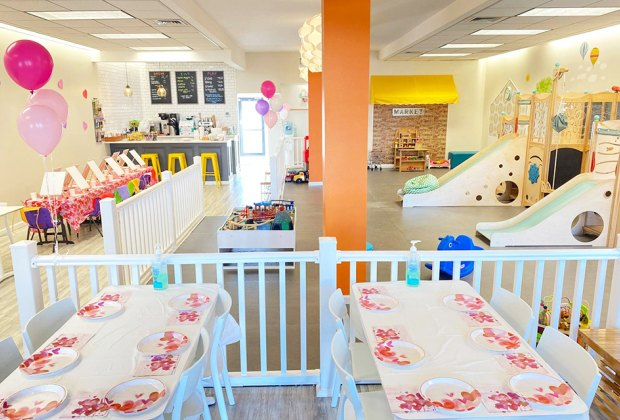 Enjoy the wide open space at Sippy Cups Cafe play spaces