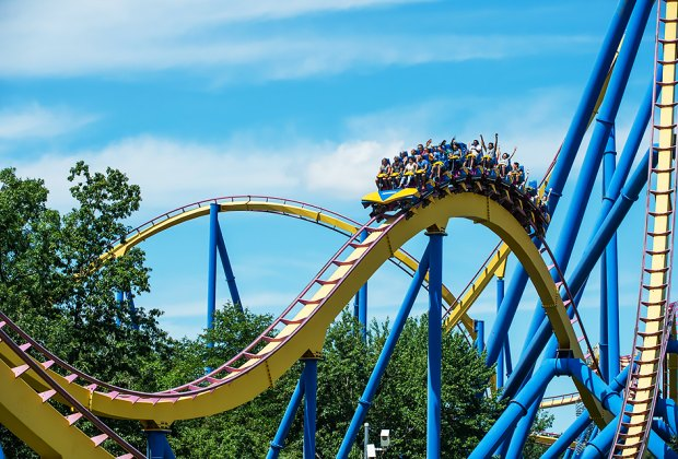 "The NITRO, a ""hypercoaster,"" takes you on an 80-mile-per-hour thrill ride. Photo courtesy of the park"