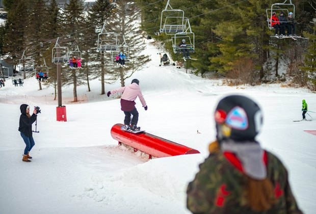 Mount Southington Ski Area snowboarding park