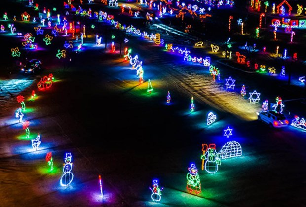 Skylands Stadium hosts a drive-thru Christmas lights display