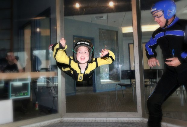 """Kids as young as  can """"fly!"""" Photo courtesy of SkyVenture"""