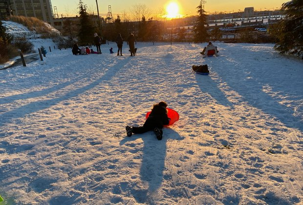 Hit the sledding slopes if the snowflakes fly during Midwinter Break