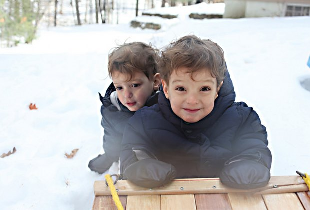 Hop on a toboggan to make winter sledding extra special for kids. Photo by Matthew Nighswander