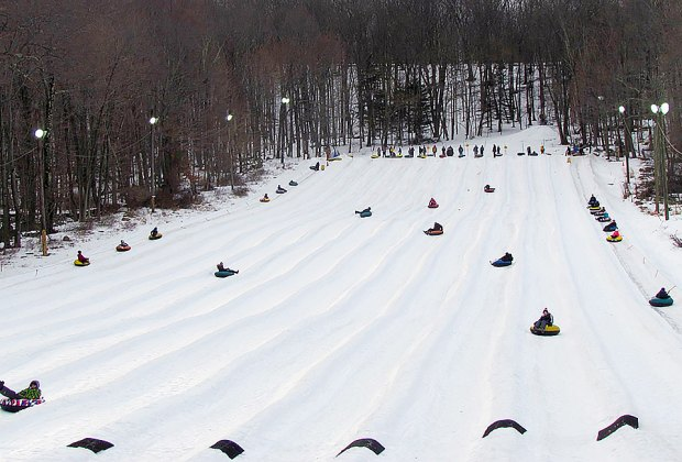 Campgaw Mountain offers a long snow tubing run in New Jersey