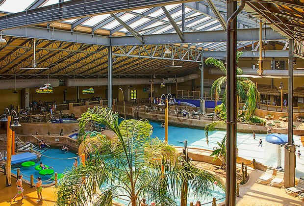 Split Rock resorts water park is always tropical-feeling