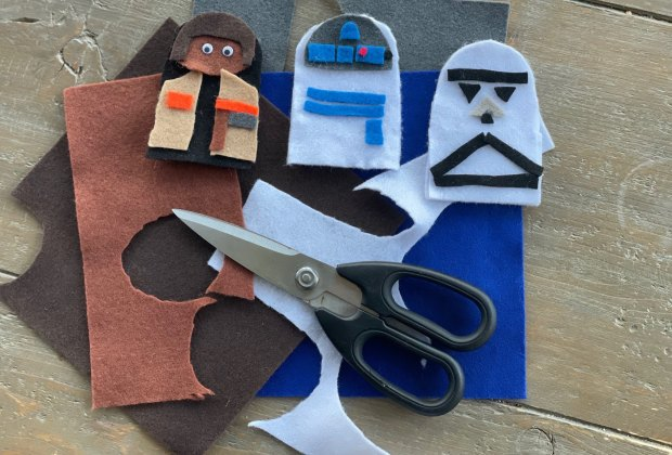 Stars Wars Day Activities for Kids: Star Wars Finger Puppets