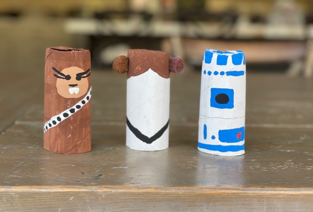 Stars Wars Day Activities for Kids: Toilet Paper Roll Star Wars Figures
