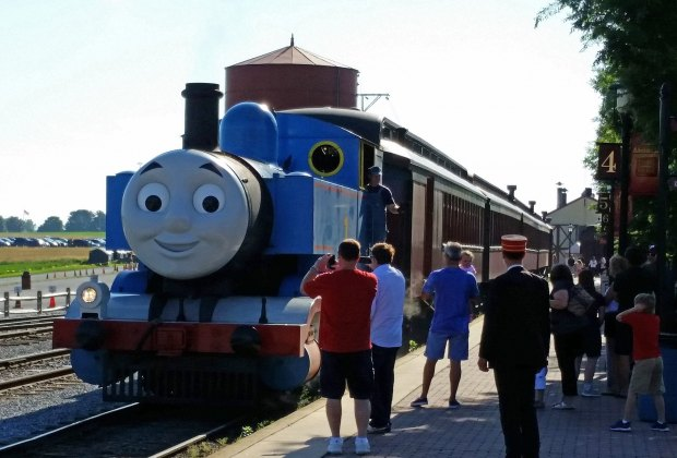 Ride with Thomas and his friends along the Strasburg Railroad.
