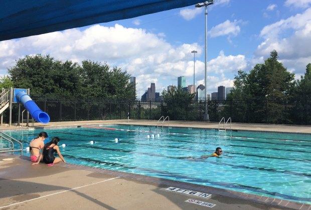 Enjoying the View at Stude Park Swimming Pool