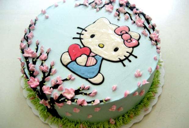 Ice cream cakes are the specialty at Sundaes and Cones, including this fun Hello Kitty design.