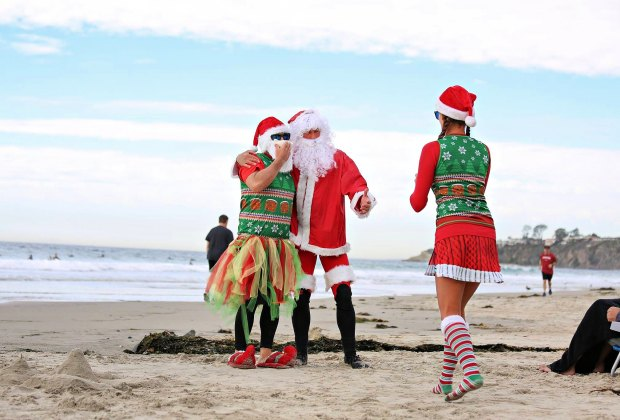 Surfing Santa Competition. Photo courtesy of Surfers Healing