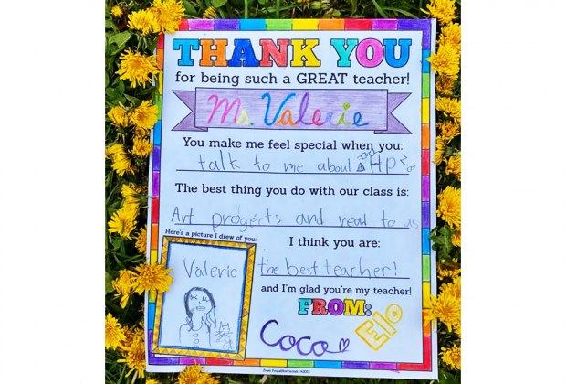 Teacher Appreciation Gifts: Handmade cards