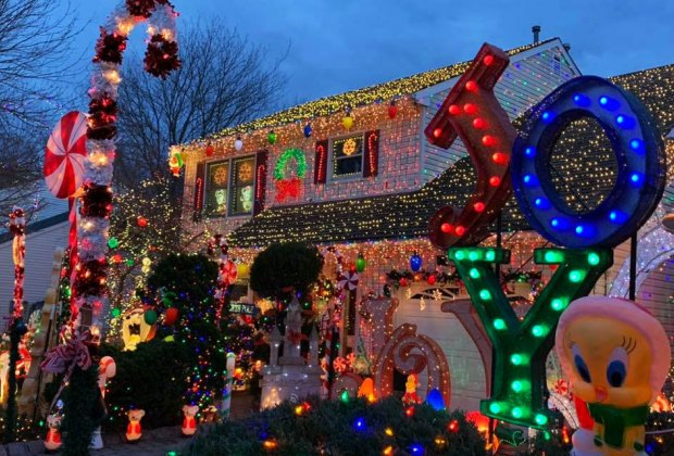 The Gress House Holiday Light Spectacular in Mountainside, N.J.