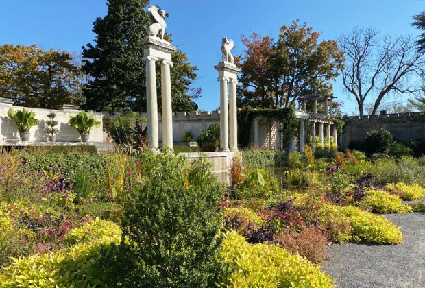 The walled garden at Untermyer garden