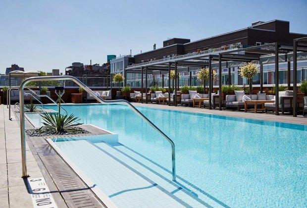 an empty pool NYC hotel pools