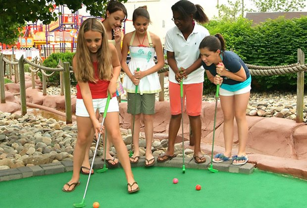 Golf with friends at The Funplex!