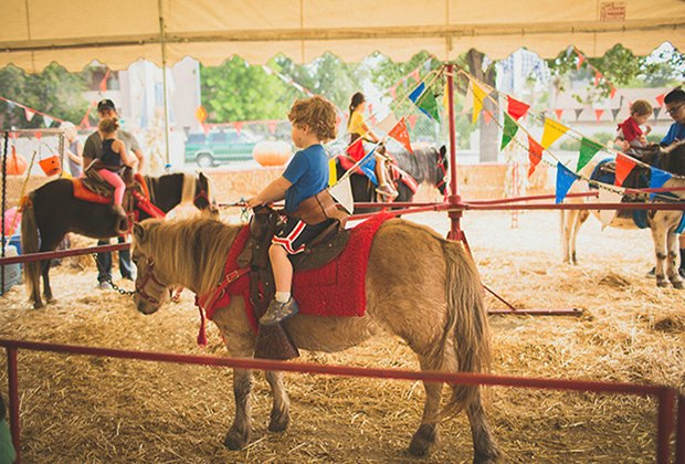 Pony ride at Tina's Pumpkin Patch