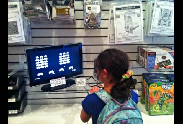 Browse high- and low-tech toys or play a free game of Space Invaders at Tinkersphere
