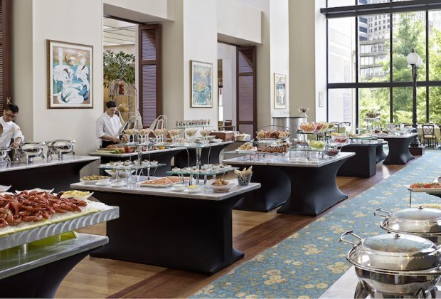 Cafe Fleuri's buffet is fancy and family friendly at once. Photo courtesy of The Langham