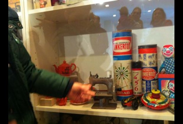 Classic toys and games are safe from little hands behind plexiglass at the Toy Museum