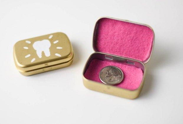 Creative Tooth Fairy Ideas Kids Love: turn a mint box into a tooth box tooth fairy ideas