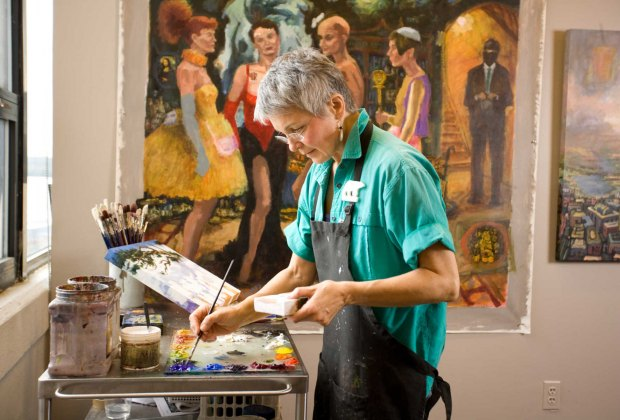 See artists at work. Photo courtesy of Torpedo Factory Art Center