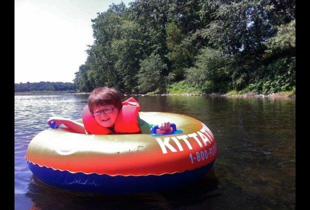 Tubing down the Delaware River