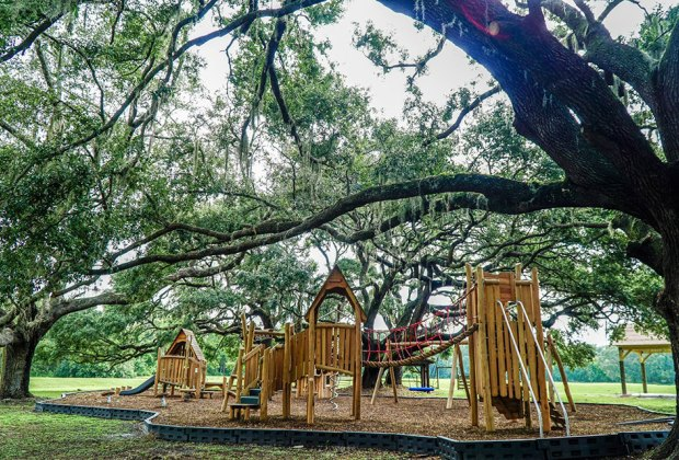 The new playground at Tucker Ranch Preserve sports a treehouse feel surrounded by nature.