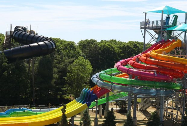 New water slides Riptide Racer, right, and Bombs Away will delight aquatic thrill seekers at  Splish Splash.