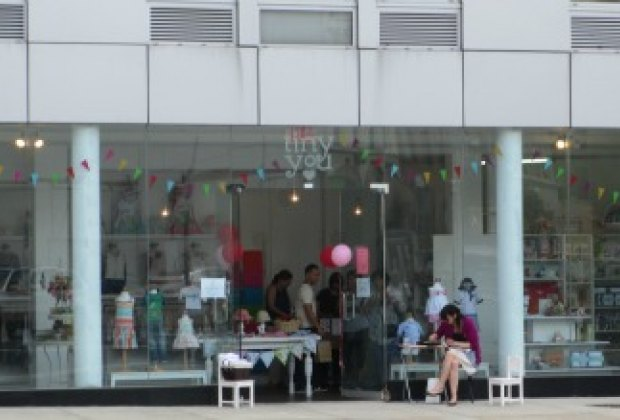 Tiny You Long Island City's picture window gives passers-by a peek at the goods