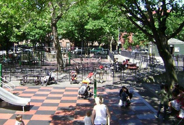 Underwood Park has a shady playgound