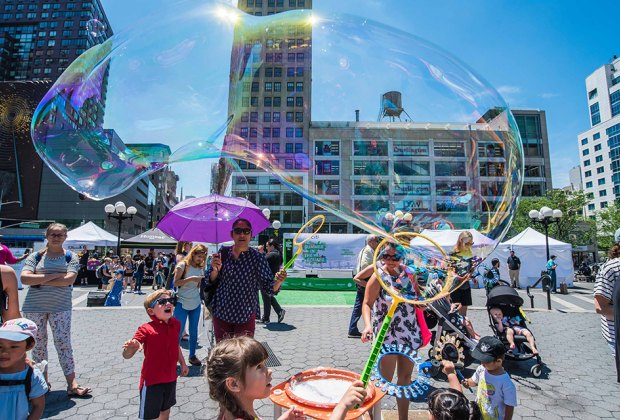 Enjoy kids' programming throughout the year at Union Square Park. Photo courtesy of the park