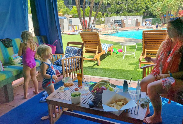Things To Do With LA Kids Over Spring Break: Book a cabana by the pool.