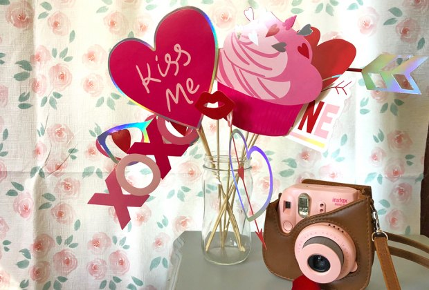 Set up a photo booth or photo shoot to caputre memories of this Valentine's Day.