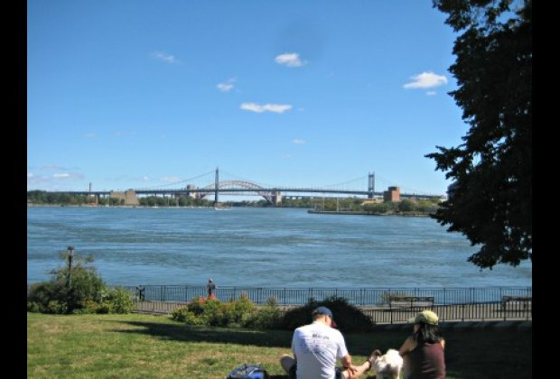 The Triborough and Hell Gate Bridges as seen from Carl Schurz Park