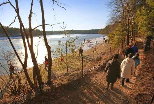 12 Great Places To Hike with Kids around Boston: Walden Pond