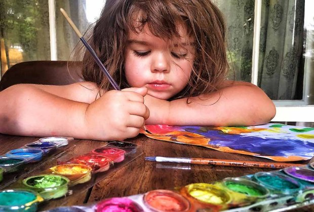 Take your paint and brush outside for some outdoor watercoloring.