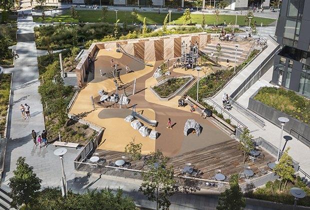 Waterline Square Park Playground wide
