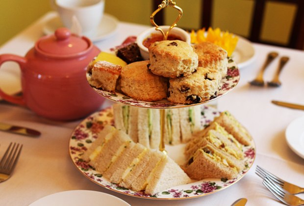 Enjoy tea and scones at Mother's Day at Mulberry House