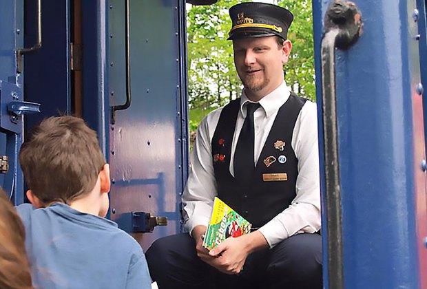 All aboard at the Whippany Railroad Museum! Photo courtesy of the museum