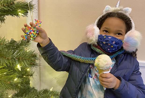 For a sweet winter treat, grab an ice cream cone