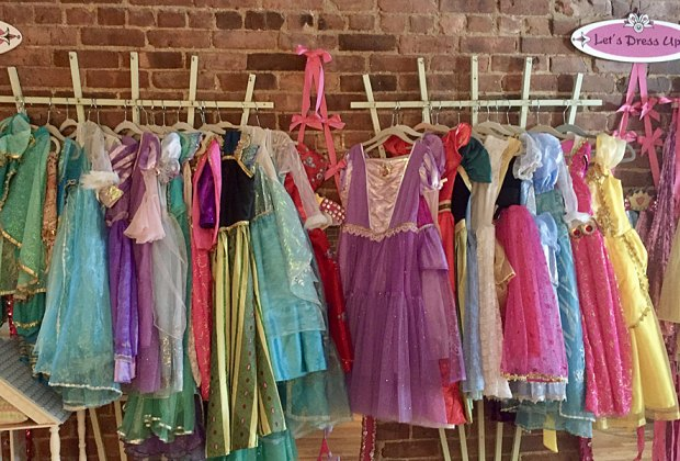 Don a princess frock and drink some tea to warm up at Let's Dress Up this winter